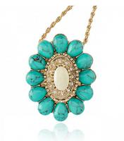 Necklace New   Australia Women Semi-precious Stone Green  Sterling Silver Jewelry Fine Accessories Pearl Necklace Free shipping