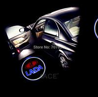 8th LED Car LADA  Logo Door Light LADA LOGO Ghost Shadow Lights Car Welcome Lights Laser Lamp For LADA Universal Car Light