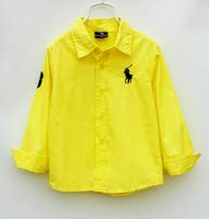 lys8 boy shirt long sleeve children blouse 2-7 age boys shirts free shipping 5pcs/ lot