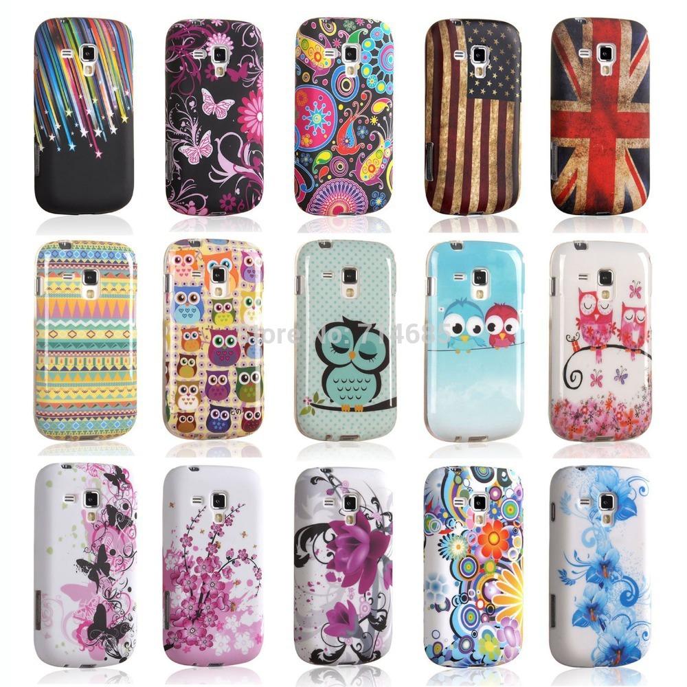 Art TPU Phone Case for Samsung GALAXY Trend S7560 & S Duos S7562 & S Duos 2 S7582 & Trend Plus S7580 & Ace II-X S7560M Owl Cover(China (Mainland))