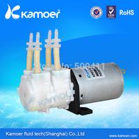 Kamoer high flow micro  peristaltic water pump 24v double head motor