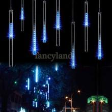 2014 Blue 30CM Shinning Snow Fall Meteor Shower Rain Tubes LED String Light  Holiday lights Wedding Garden Decoration B6(China (Mainland))