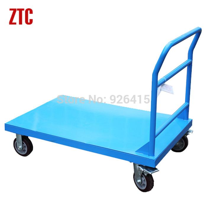 Material handling flatbed trolley mobile platform hand cart metal steel production platform hand truck 500kg hot sale(China (Mainland))