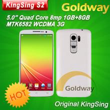 Original KingSing S2 MT6582 Quad Core Phone 5.0'' IPS OGS Screen Android 4.4 1GB RAM 8GB ROM WCDMA 3G GPS Air Gesture Wakeup(Hong Kong)