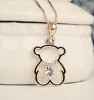 Hot-selling cutout zirconium diamond bear chain exquisite design necklace the entense short sweater chain