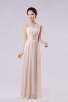 Long Dress Chiffon Bridesmaid Dress Party Wedding Prom Gown Wholesale H1Z0 Custom Made (Zipper back)