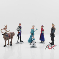 DHL/EMS Free Shipping 300pcs/lot newest hot sales high quality cartoon Frozen 6 models Anna elsa PVC kids boys girls doll Toys