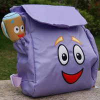 New 2014 Dora The Explorer School Bags Kids Backpack For Girls And Boys Super Soft Fabric Water Proof Lining KF494N