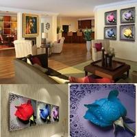 Fashion Handmade art DIY Diamond painting diamonds pasting 3D cross stitch kit water rose picture Home Decor&Wall Decor cx871029