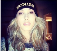Spoof Homies hat  winter cap knitted , wool cap knitted hat HOMIES beanies embroidery