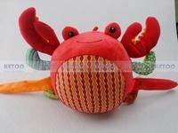 Детские погремушки Игрушки гусеница музыкальная inchworm плюшевые образовательные игрушки с кольцом устройства bb колокольный звон бумаги