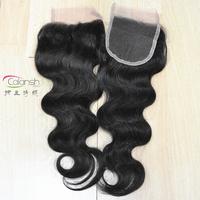 "2 pcs per lot women top lace closure size 4"" x 4"" Virgin malaysia human hair body wave style shipping free wholesale price"
