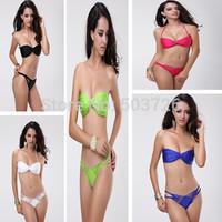 Hot Sale Sexy Swimwear Women Push up Bikini Set Sexy Swimsuit Lady Beach Suit 5 colors