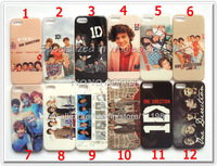 For Apple iPhone 5 5S Case One Direction Super Star Mobile Phone Cover for iPhone5 12 Designs in stock 50pcs