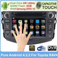 Pure Android 4.2.2 Car Head Unit Sat Nav DVD Player For Toyota RAV4 2006 2007 2008 - 2012 GPS Navi Radio Stereo Built-in WiFi