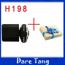 Free Shipping H198 Car DVR with 2.5 Inch 270 Degree Rotated Screen 6 IR LED Night Vision Car Camera Camcorder Dash Cam P02c(China (Mainland))