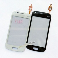 Touch Screen Digitizer Glass For Samsung Trend Plus S7580 S7582 with logo Free ship