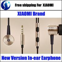 Original XIAOMI Brand New Version In-ear Earphone 3.5mm Stereo Earphone with Mic Control Talk Free Shipping
