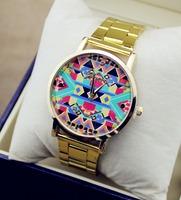 2014 new fashion lady quartz watch Japan original installation import machine core women dress watch men all steel watches