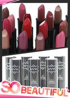 (10pcs/lot) wholesale brand Ny waterproof lip smacker naked cream lipstick maquiagens batom matte maquiagem tint lips makeup