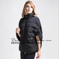 New Women Winter Coat Half Bat Sleeve Stand Collar Thick Slim Fashion Winter Coat Down Jacket  Size M L XL Free Shipping XX571