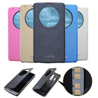 For LG G3 Case Luxury Quick Circle View Window Smart Case For LG G3 Cover QI Wireless Charging IC Chip International Version