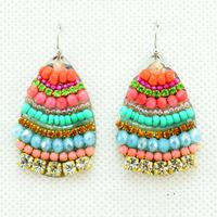 2014 New Fashion Handmade Bohemia Luxury Crystal earrings Ladies Sexy Earrings for Women Jewelry Statement Earrings