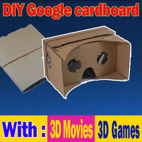 2014 newest version II whole one piece 3D glasses 1:1 DIY Google Cardboard VR Virtual Reality tool kit  [No NFC]
