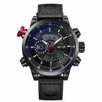WEIDE 2014 New product Original Japan Miyota 2035 Quartz + LCD Digital Movement ,alarm,stop watch and backlight functions