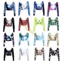 Cool Pattern! New 2014 summer women top crop Short t-shirt harajuku/Skull style 3D top girl print rock brand t shirt b8 SV006648