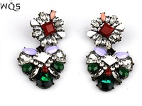 2014 new designer brand shoulouk alloy inlay earrings essential queen women high banquet earrings