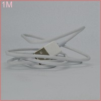 10pcs/lot 1M USB Data Cable 3ft white color wire ios7 8pin to usb 2.0 charger for iphone 5 5s 5c ipod ipad mini cable [YL]