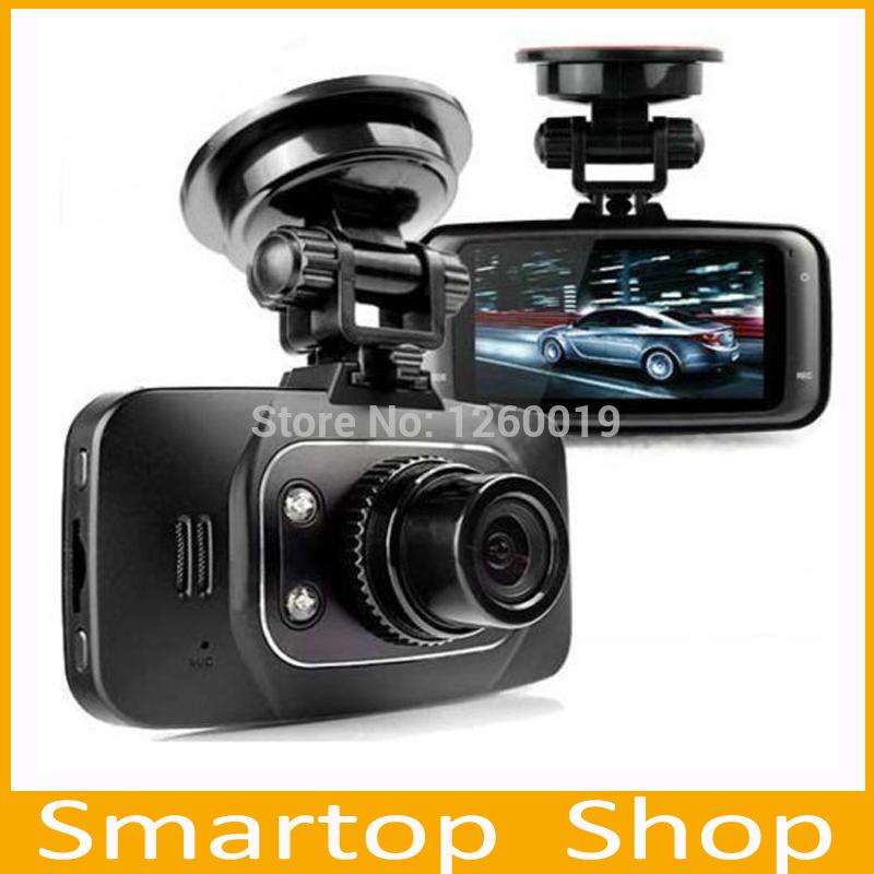 2014 Hot Sale HD 1080P Car DVR Vehicle Camera Video Recorder Dash Cam G-sensor HDMI GS8000L+Free Shipping(China (Mainland))