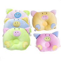 fixed baby pillow high quality lovely pig 4 colors  min order 6PCS free shipping