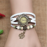 DHL free shipping to US  60pcs/lot Vintage Retro flower bracelet watch lady women dress watches watched montre femme