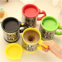 1 Piece Bluw coffee mixing cup,Plain Lazy Self Stirring Mug,Creative Coffee Mug,Free Shipping