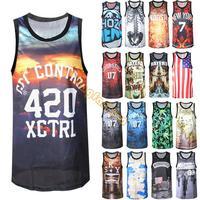 NEW Men T shirt Quick Drying sports jersey Undershirt Printing 3D Professional Basketball sleeveless Shirt tank top b8 SV006566