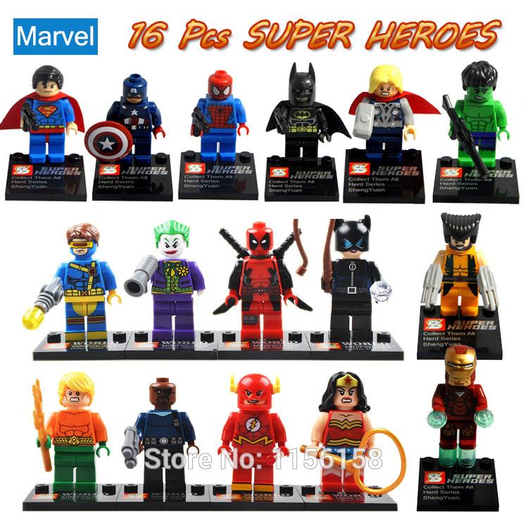 Фигурка героя мультфильма SY 16 /minifigures ABS Marvel Super Hero