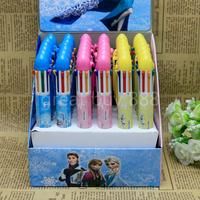 2014 New multicolor children Cartoon Frozen Ballpoint pen Stationery Christmas gift