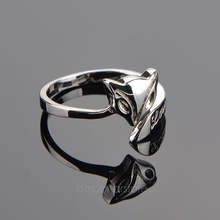 Women adjustable Fashion Jewelry Stylish Fire Fox Love Silver Plated Ring for Girls Lady XMPJ241