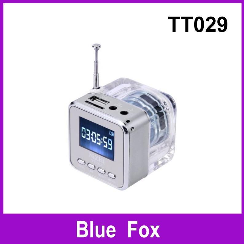 Subwoofer Speakers 2014 Speakers free Shipping 1pcs Original Nizhi Tt029 Mini Speaker with Fm Flash Light Big Sound Mental Case(China (Mainland))