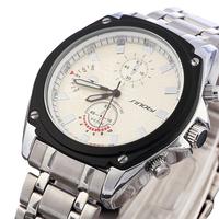 SINOBI Branded Watches Men Watches Military Stainless Steel waterproof Wristwatches Japan Quartz Watches Relogio Clocks