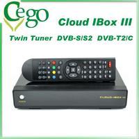 Original Cloud ibox 3 HD Satellite Linux Enigma2 with Twin Tuner Doppio Tuner DVBS/S2+DVB-T2/C Cloud ibox iii Visione Gratuita