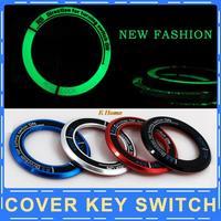 Luminous Ignition Switch cover key switch decoration ring for Hyundai solaris,i30,ix35,sonata,elantra,auto interial accessories