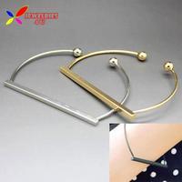 2014 new fashion hot women's bracelets & bangles Gold Silver alloy copper metal novelty hand cuff jewelry bijoux wholesale
