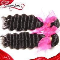 Longqi Hair 6A Unprocessed Virgin Hair Brazilian Deep Wave 3pcs/lot Brazilian Virgin Hair Cheap Brazilian Human Hair Weave