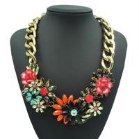 Hot Sale JC Brand Exo Colors Flower Collar Choker Pendants Necklace Hip Hop Neon Statement Designer New Year Christmas jewelry