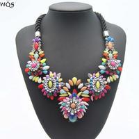 Brand Designer Flower Choker Women Necklaces & Pendants Fashion Colar Statement Necklace 2014 Pendant Statement Necklace Jewelry