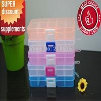 2015 new hotselling Clear Plastic Divided Storage Box Rhinestone Nail Art Tips jewel case box storage boxes & bins storage