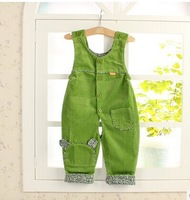 Free shipping  autumn new style 0 to 2 years old baby of corduroy Strap Trousers